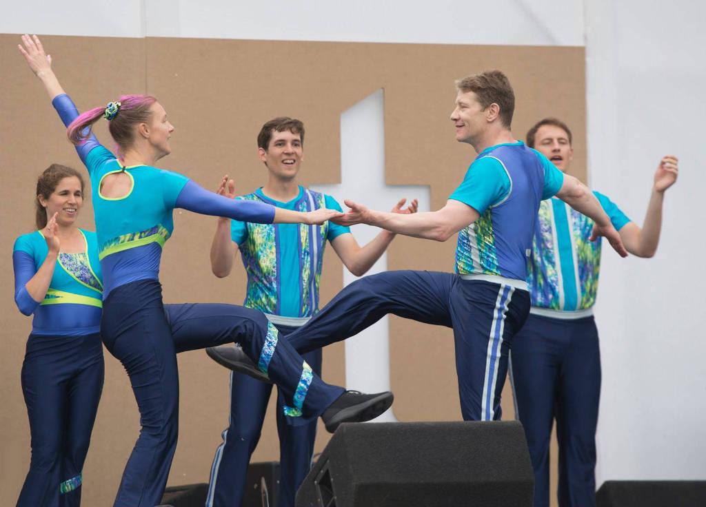 Proefles acrobatisch dansen