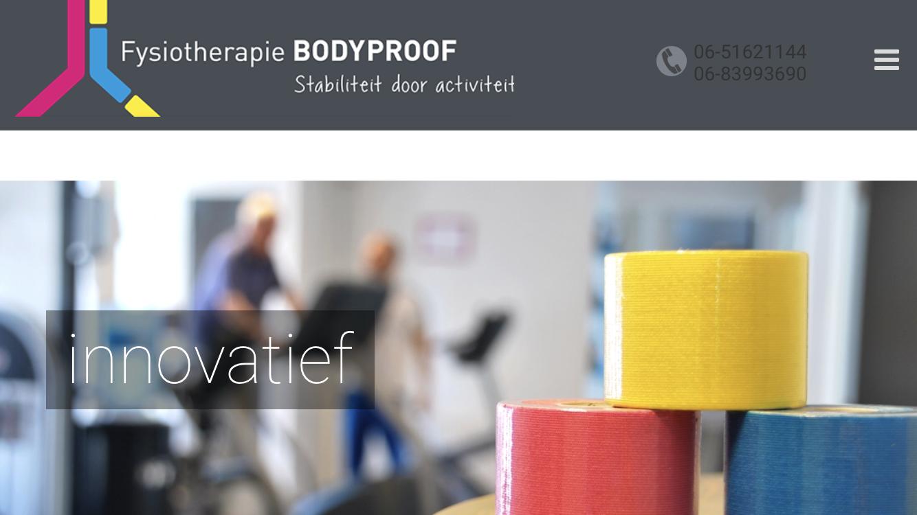 Logo Fysiotherapie BodyProof De Meern